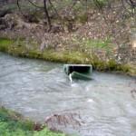 basura en el huerva (El Ebro se llena de algas !!)