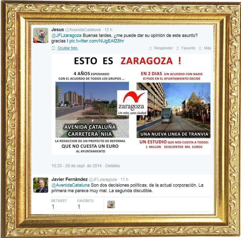 Para enmarcar - Avenida Cataluña - Zaragoza