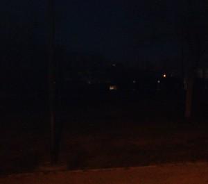 parque a oscuras