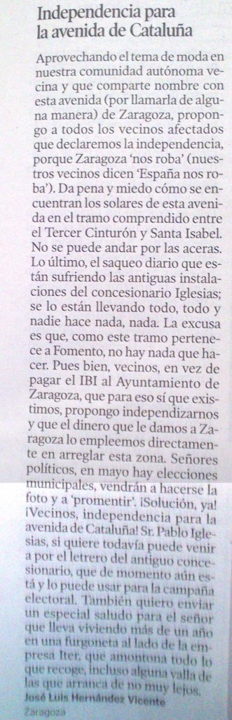 HERALDO CARTA 31 FEB 2015