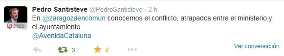 Pedro santisteve tuit